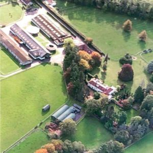 Aerial view of Heatherwold Stud