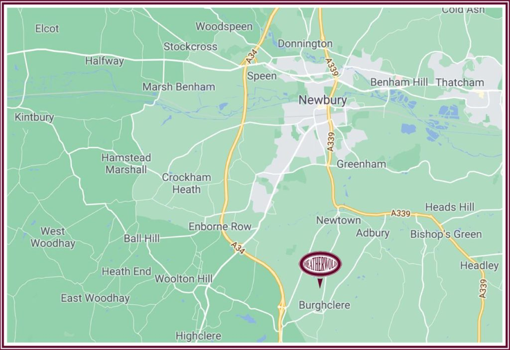 map showing location of heatherwold stud